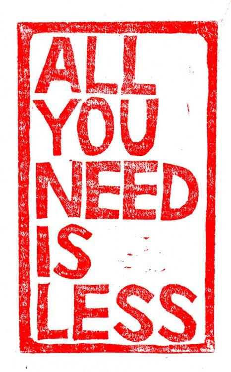 Cover Photo: All You Need Is Less by Emily LeClair Metcalf